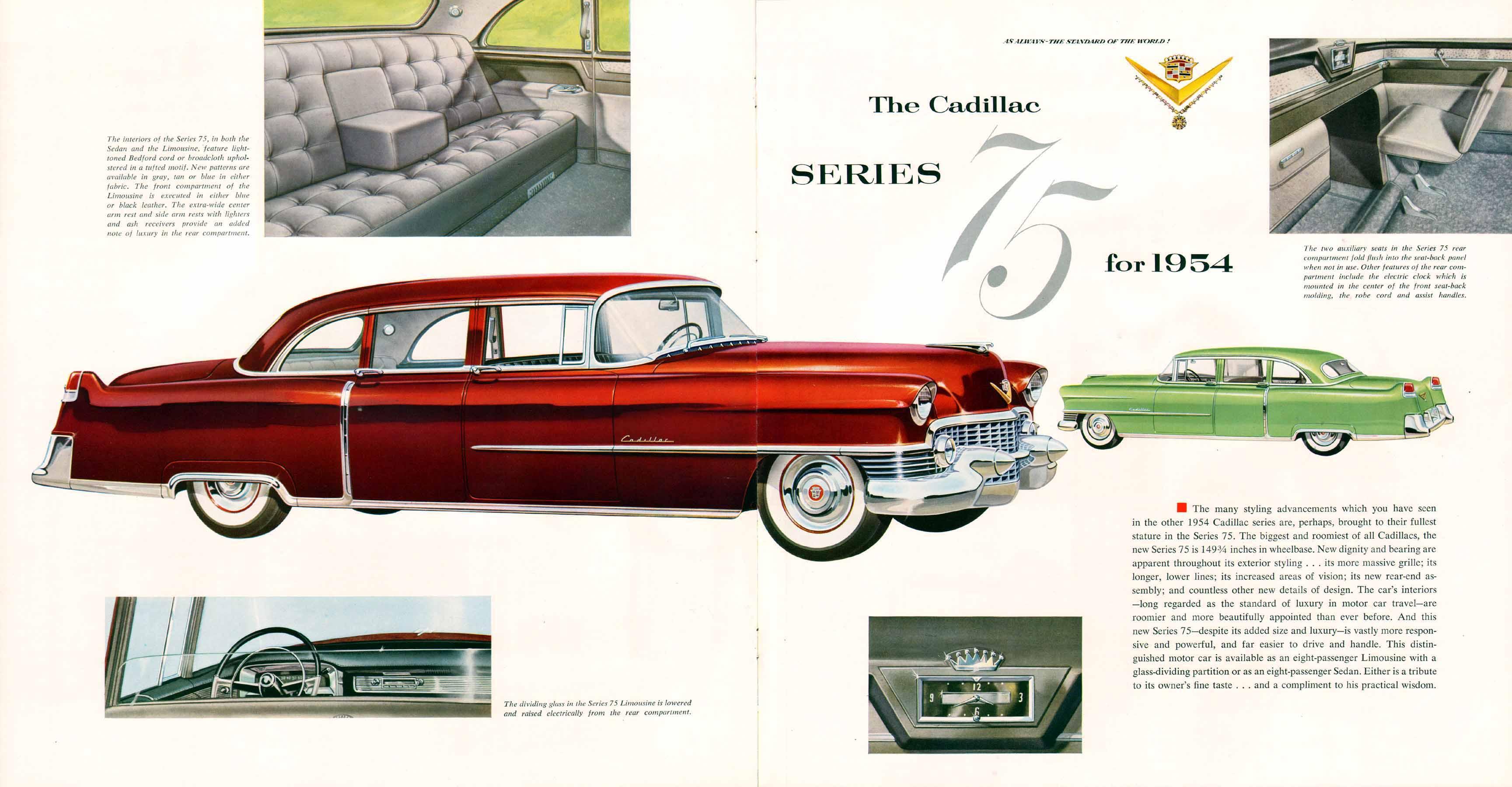 Wonderful 1954 Cadillac Brochure 23 24 Gallery