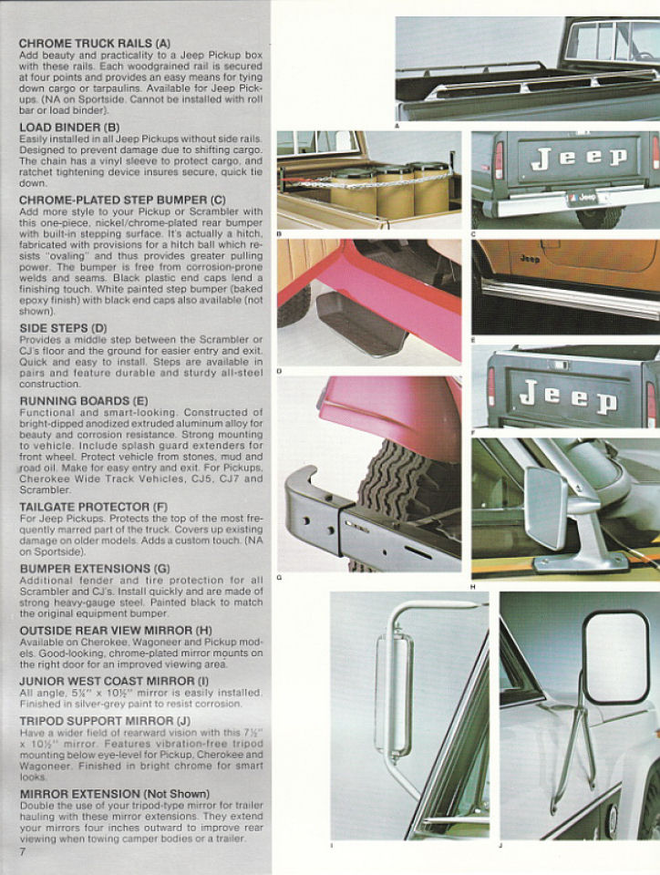 1982 jeep accessories catalog 07. Cars Review. Best American Auto & Cars Review
