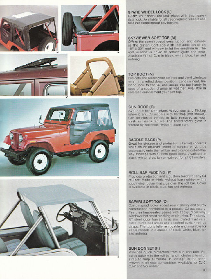 image 1982 jeep accessories 1982 jeep accessories catalog 10. Cars Review. Best American Auto & Cars Review