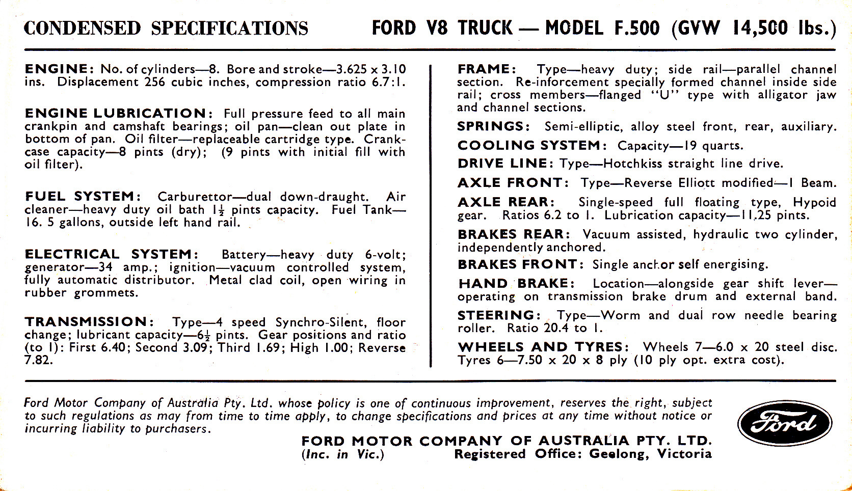 1955 Ford Electrical System F500 Wiring Diagram Freighter Postcard 1672x964