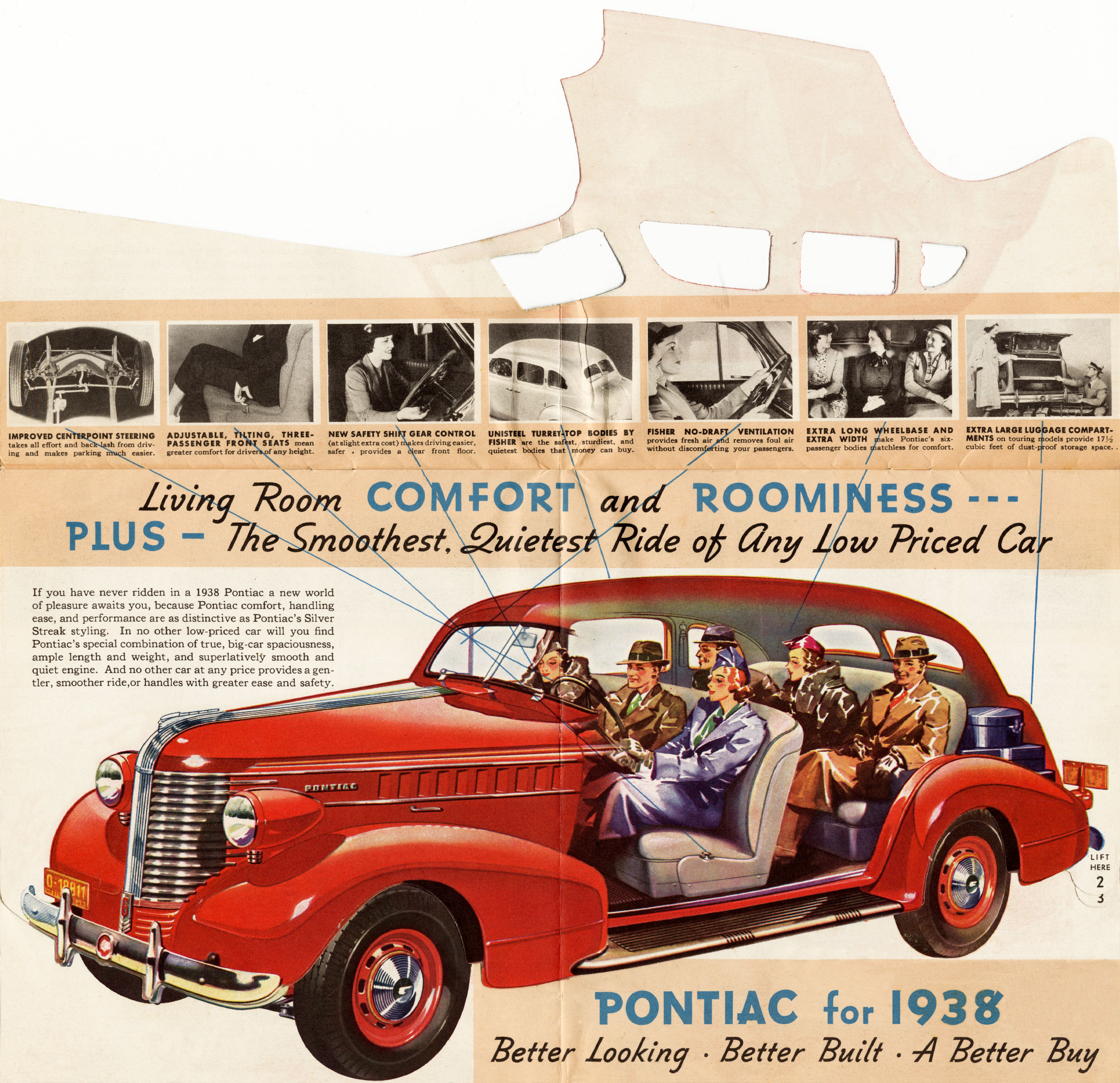 Old Car Dealers >> Directory Index: Pontiac/1938 Pontiac/1938_Pontiac_Inside_Story_Foldout